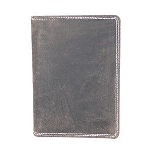 Arrigo heren portemonnee van donkerbruin buffelleer