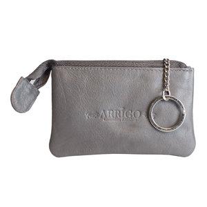 Arrigo sleuteletui gemaakt van grijs rundleer