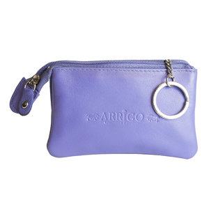Arrigo sleuteletui gemaakt van paars rundleer