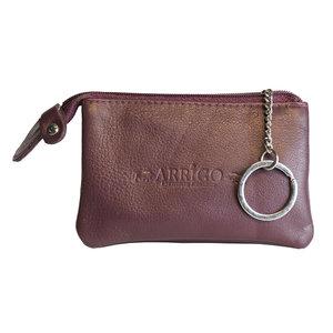 Arrigo sleuteletui gemaakt van bordeaux rood rundleer