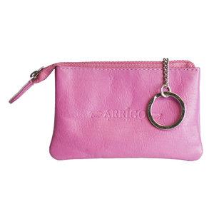 Arrigo sleuteletui gemaakt van roze rundleer