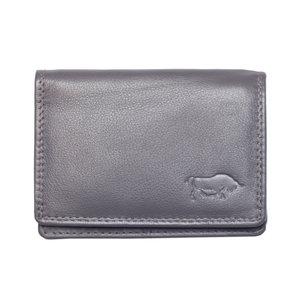 Compacte portemonnee, grijs leer - Arrigo