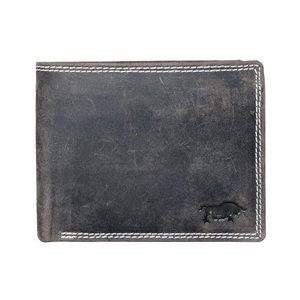 Billfold portemonnee van donkerbruin buffelleer - Arrigo