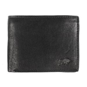Billfold portemonnee met anti skim bescherming gemaakt van zwart leer - Arrigo