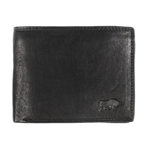 Billfold heren portemonnee van zwart rundleer - Arrigo