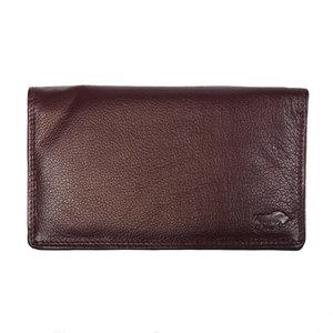 Ruime harmonica portemonnee gemaakt van bordeauxrood leer - Arrigo