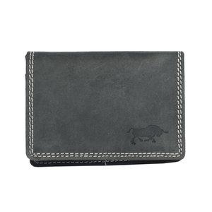 Dames Mini Portemonnee Van Zwart Leer - Arrigo
