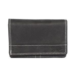 Dames Portemonnee Van Zwart Leer - Arrigo