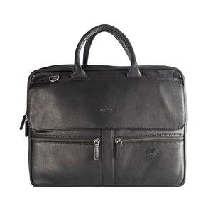 Messenger bag - Laptoptas van zwart Colombiaans leer - Arrigo