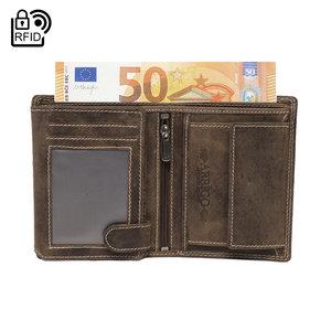 Heren portemonnee van lichtbruin leer - Arrigo.nl