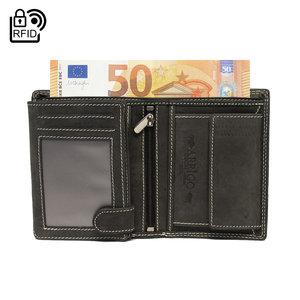 Heren portemonnee van zwart leer - Arrigo.nl