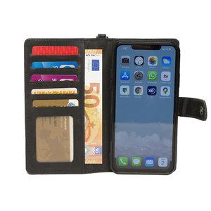 iPhone 11 Pro Max hoesje van zwart leer - Arrigo.nl