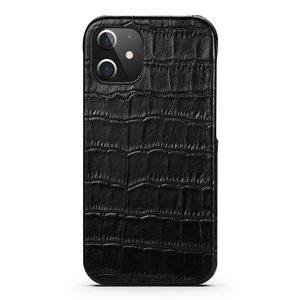 iPhone 12 Pro cover zwart leer - Arrigo.nl
