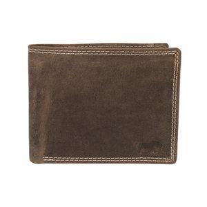 Heren portemonnee - billfold model van bruin buffelleer - Arrigo.nl