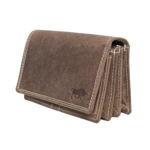 Dames portemonee van lichtbruin buffelleer - Arrigo.nl