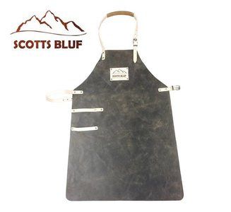 BBQ Schort Scottsbluf zwart/tan used look