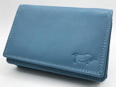 Koraal blauwe Anti Skim portemonnee