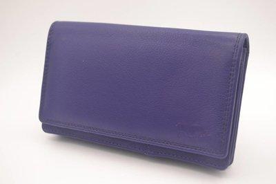 grote paarse Anti Skim portemonnee