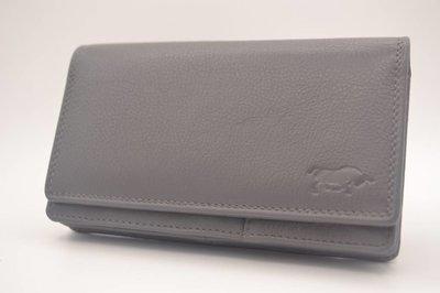 extra grote grijze Anti Skim portemonnee