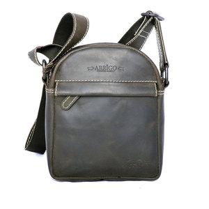 Zwart schoudertasje van buffelleer - Arrigo