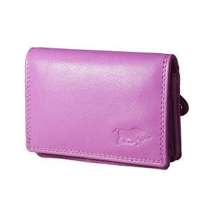 Compacte portemonnee, roze leer - Arrigo