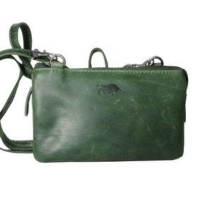 Groen lederen portemonnee tasje - Arrigo