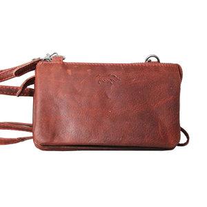 vangst geweldige selectie jongen Rood rundleren portemonnee tasje - large