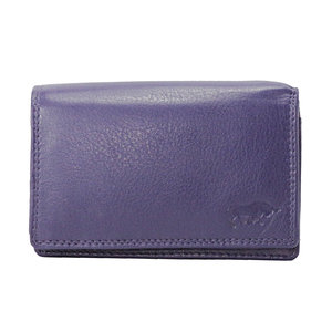 Rundleren portemonnee medium size, aubergine - Arrigo