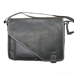 Messenger bag XL zwart buffelleer - Arrigo