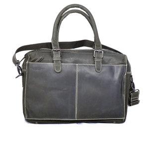 Messenger bag van zwart buffelleer - Arrigo