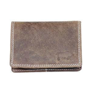 Buffelleren RFID portemonnee, cognac medium - Arrigo