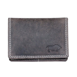 Buffelleren portemonnee, donkerbruin medium - Arrigo