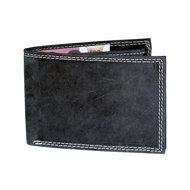 Billfold heren portemonnee van zwart buffelleer