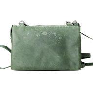 Groen rundleren portemonnee tasje - Arrigo