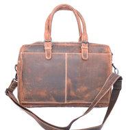 Messenger bag van cognac buffelleer - Arrigo